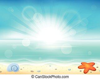 thème, plage
