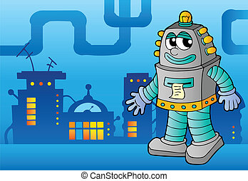 thème, robot, image, 3