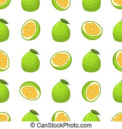 thème, seamless, illustration, pomelo, coloré, grand