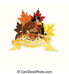 thème, thanksgiving, heureux