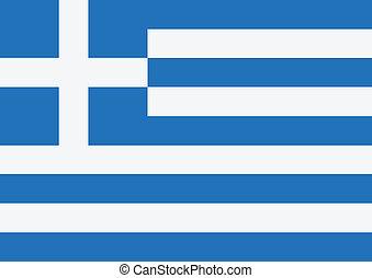 thèmes, drapeau national, idée, grèce
