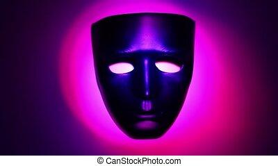 théâtral, couleur, lumière, masque, noir, anneau, changements