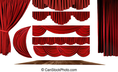théâtre, éléments, créer, ton, propre, étape, fond