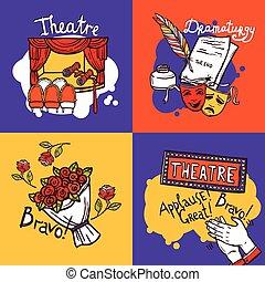 théâtre, concept, conception