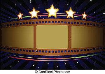 théâtre film, fond