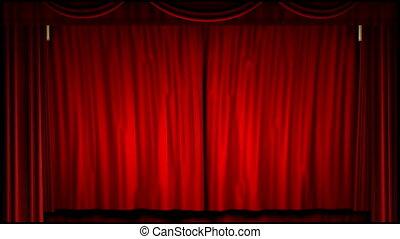 théâtre film, rideau