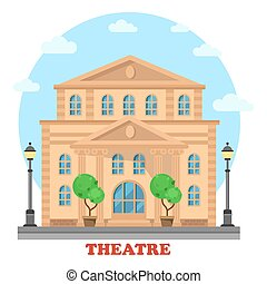 théâtre, grandiose, ou, buildingfor, divertissement