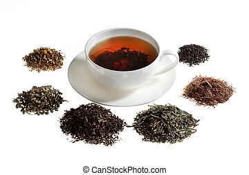thé, assortiment