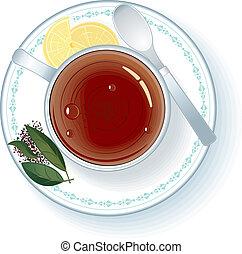 thé, chaud