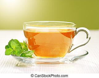 thé, citron, noir
