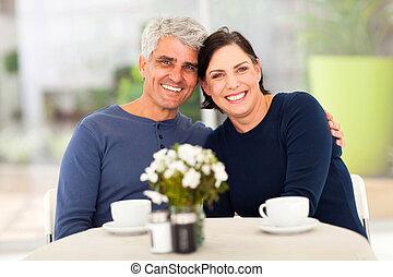 thé, couple, avoir, mûrir