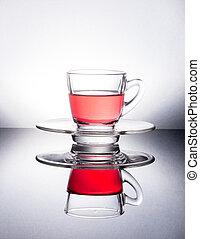 thé, encore, life., tasse