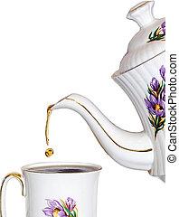 thé, goutte
