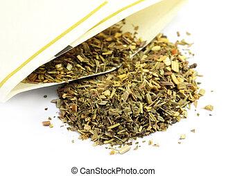 thé, herbe, citron, vert