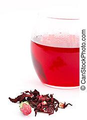 thé, hibiscus