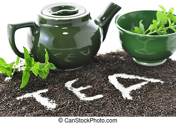 thé, lâche, composition