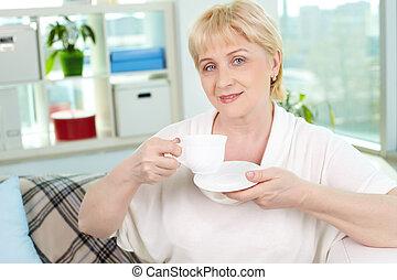 thé, matin