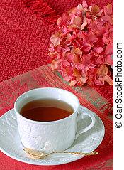 thé, mon, juste, tasse