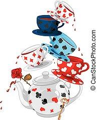 thé, pyramide, merveille, fête