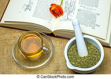 thé, rockrose, moyen-âge, manuel