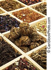 thé, variation.