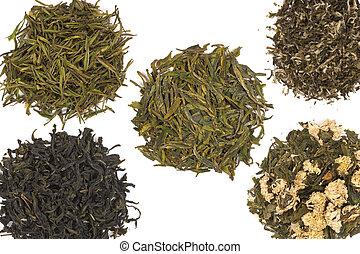 thé, vert, chinois