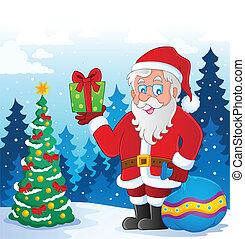 thématique, image, claus, 5, santa