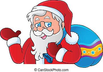 thématique, image, claus, santa, 6
