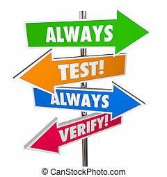 théorie, always, signes, assumptions, hypothesis, vérifier, essai, 3d