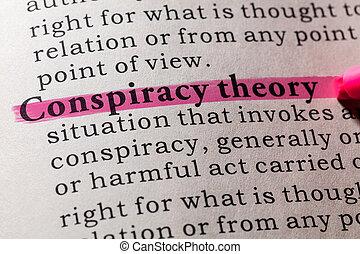 théorie, conspiration, définition