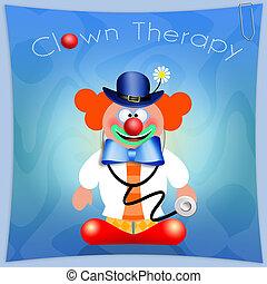 thérapie, clown