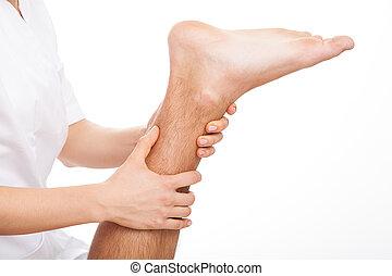 thérapie, jambe