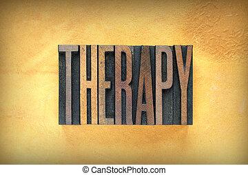 thérapie, letterpress