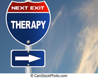 thérapie, panneaux signalisations