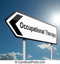 thérapie professionnelle, concept.