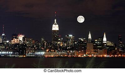 Th New York City Skyline