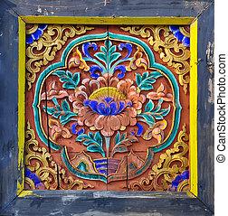 thaï, art bouddhiste, temple