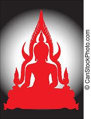 thaï, buddha.