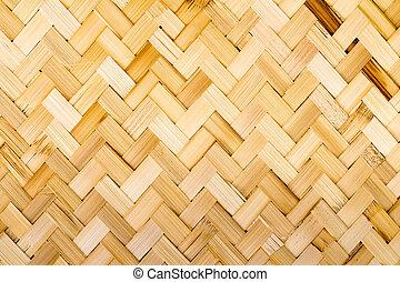 thaï, indigène, style, tissage bambou
