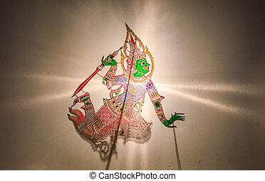 thaï, marionnette ombre