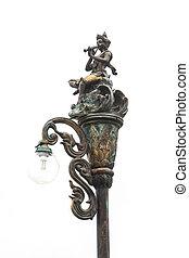 thaï, sculptur, angle