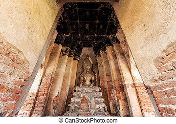 thaïlande, bouddha, ayutthaya, statue