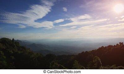 thaïlande, chang, beau, mai, hill., vue