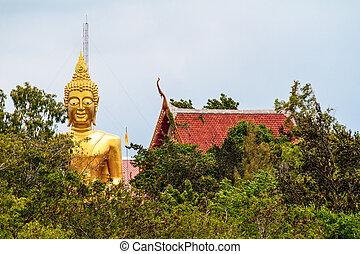 thaïlande, pattaya, city., statue, buddha.
