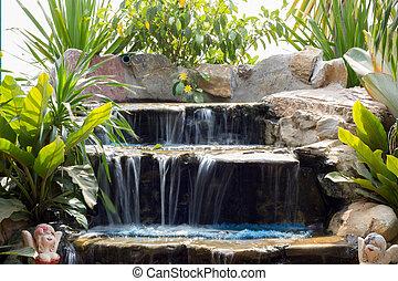 thaïlande, peu, chute eau, parc