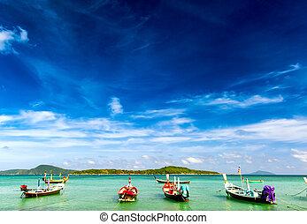 thaïlande, plage tropicale, exotique, paysage