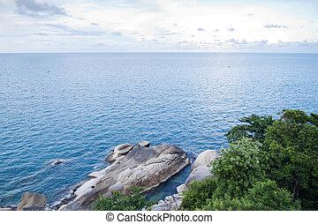 thaïlande, samui, vue, île, point