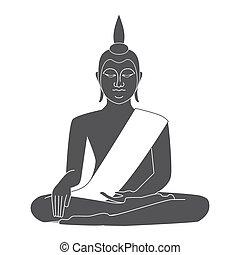 thaïlande, temple, vecteur