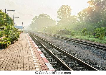 Thaïlande,  train,  station