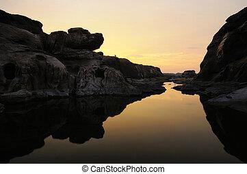 thai , ηλιοβασίλεμα , φαράγγι , μεγαλειώδης